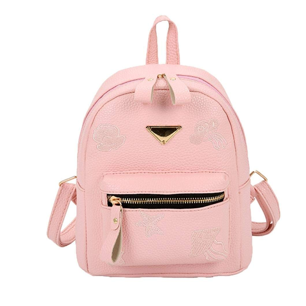 0d6259a58e BCDshop Girl Cute Casual Daypack Faux Leather Fashion Mini Backpack Purse  for Women