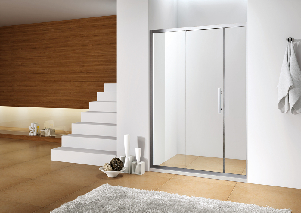 description of bathroom shower door frame only