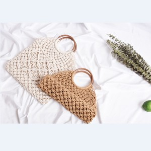 Chinese homemade OEM fashion women bag hand made cotton crochet bag