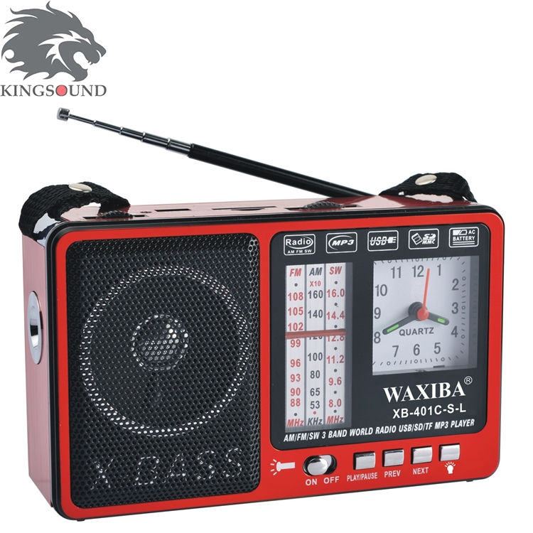 New Product XB-401C-S-L Radio Alarm Clock Radio WIth Solar