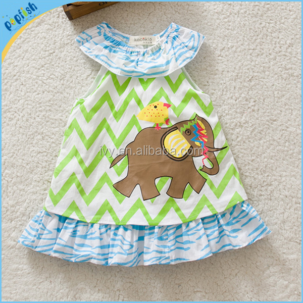 China online shopping chevron cotone di disegno infantile abiti casual 6m-3years baby girl fairy dress