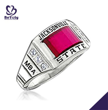 Florida school MBA pink zircon ring for students of Jacksonville state