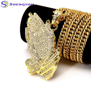 Best Selling Gold And Sliver Colors Chain Elegant Fashionable Hip Hop  Jewelry With Handclaps Shaped Men 8a7f941866e2