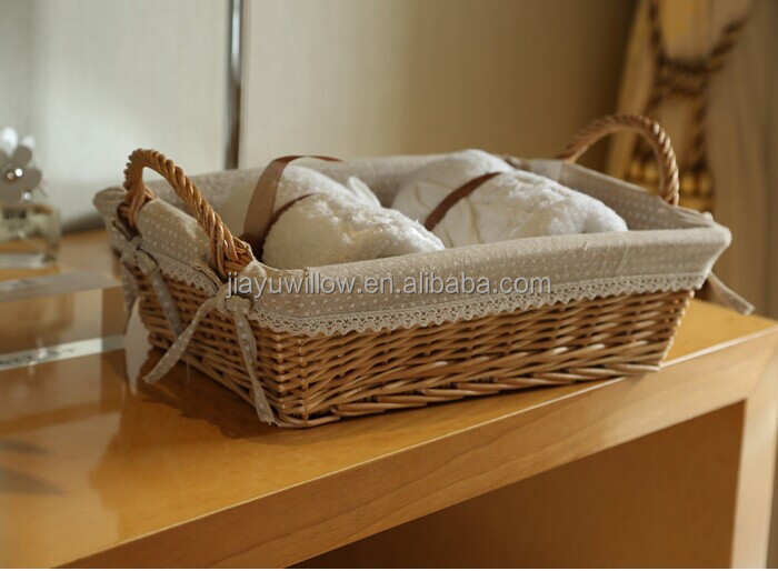 Hot Wicker Bathroom Storage Baskets With Liners Decorative