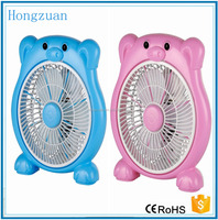 6 inch 220V pink color electric cooling box fan for student