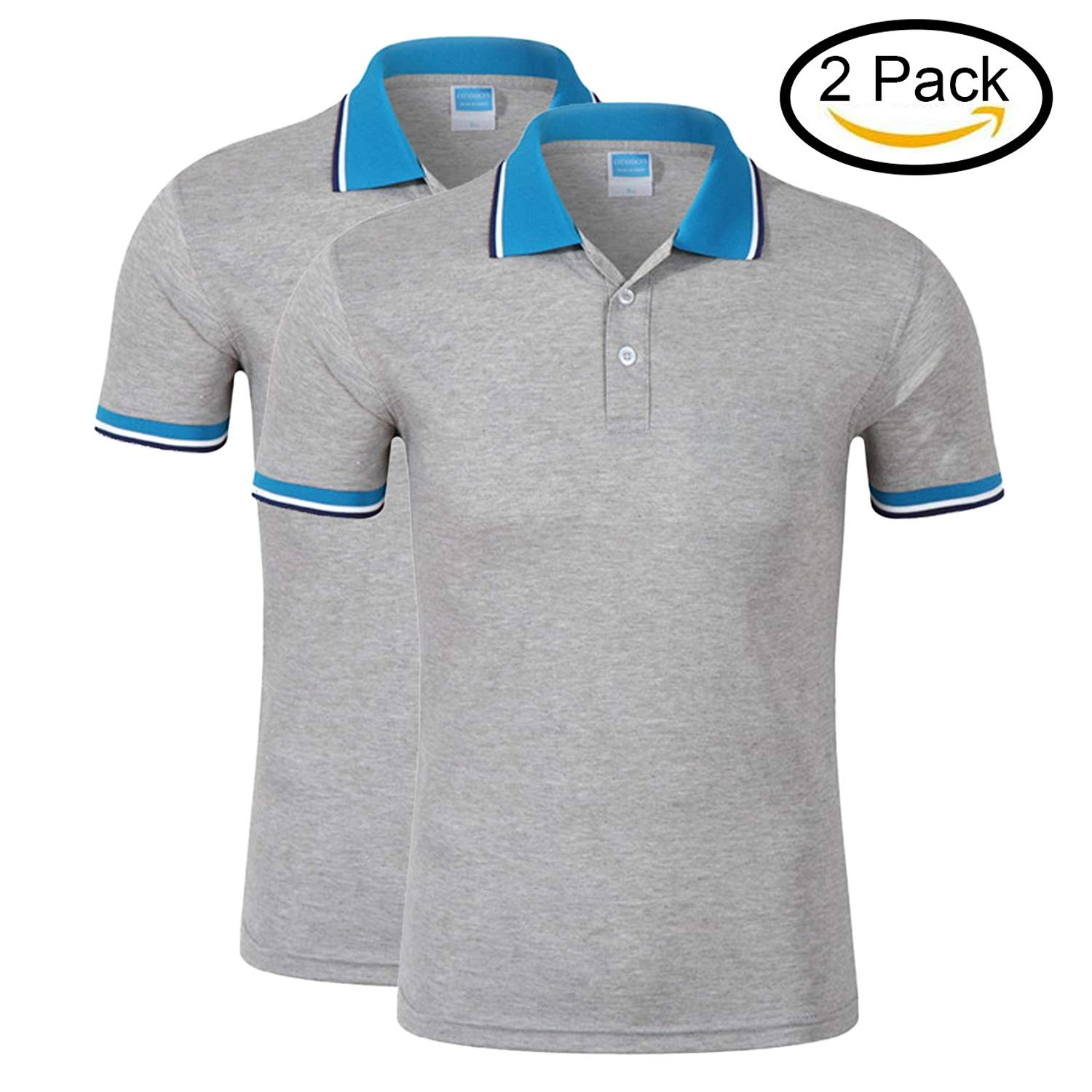 6fa28af5 Get Quotations · Averywin Ladies Polo Shirts Pack of 2, Womens Polo Shirt  Summer Tennis Polos T Shirts