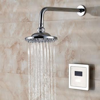 Luxury Rain Mixer Shower Set Wall Mounted Rainfall Sensor Shower Head System Brushed Buy Luxury Rain Mixer Auto Sensor Shower Set Wall Mounted Auto