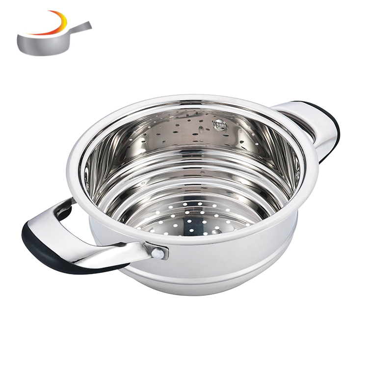 24Pcs german style Kitchen cookware Stainless Steel Wide Edge Cookware Set Cooking Pot With 7-Stepped Bottom
