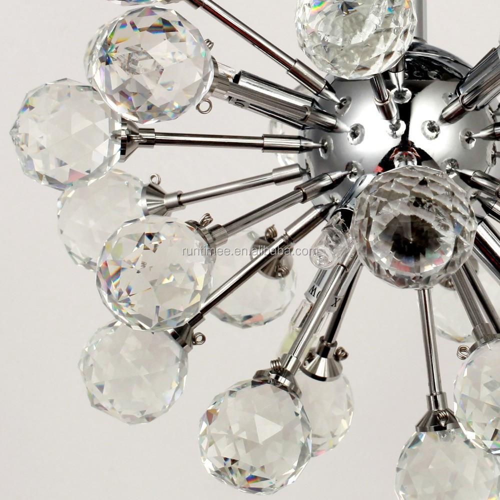 lampadario di cristallo : lampadario di cristallo k9 con 6 luci in globo forma stile mini ...
