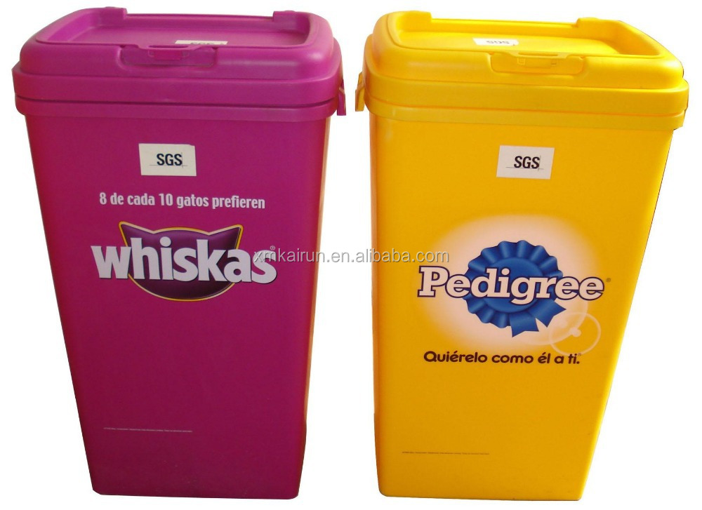 wholesale plastic pet food barrel pet food container dog food container 20kg