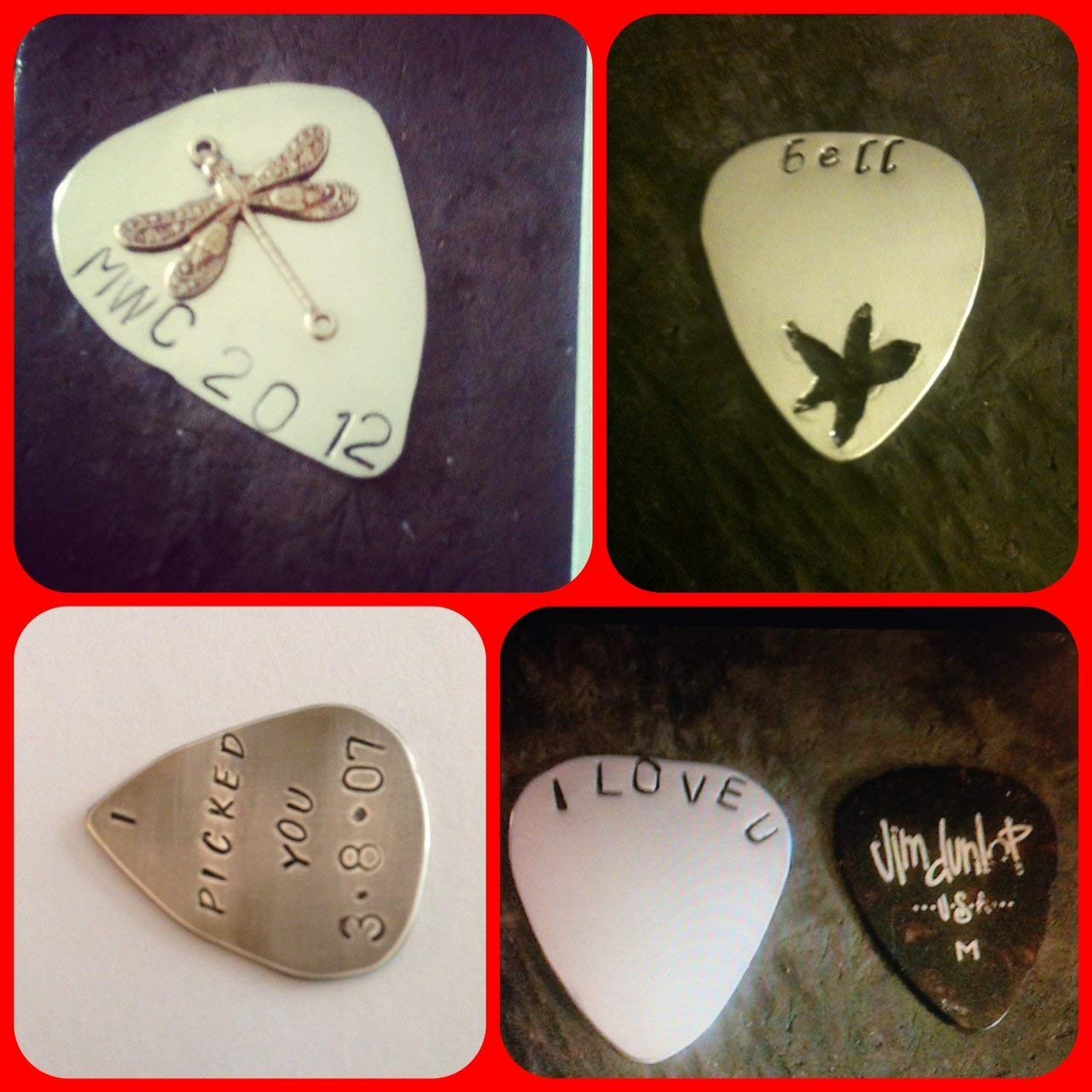Personalized Guitar Pick,gold ,copper For Him Personalized, Metal Guitar Pick, Engraved For Him, Boyfriend Gift, Hand stamped Guitar Pick - anniversary Guy Gift by Custom jewelry