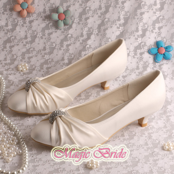 Champagne Colored Bridesmaid Shoes Low Heel