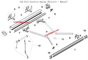 Full Cassette Retractable Folding Arm Awning Component - LCGAL