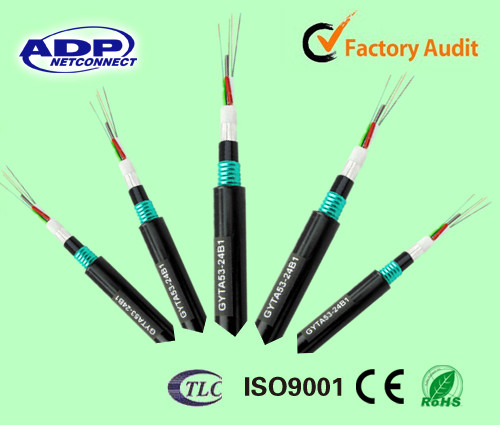 Armored Fiber Optic Cable Underground : Armored gyta outdoor direct buried double sheath core