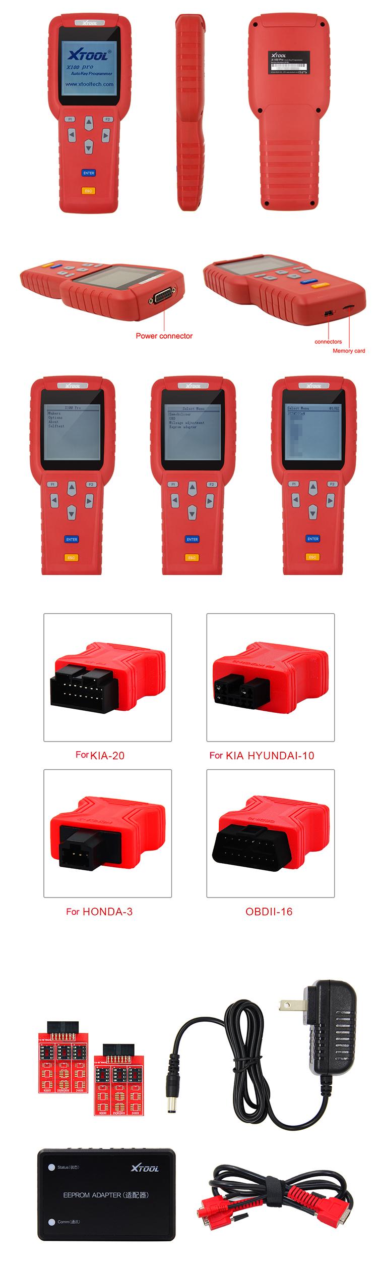 100% Originale Xtool X100 Pro handheld Programmatore Chiave Auto X100 + Plus transponder auto chiave macchina di taglio automatico