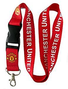 Football Club: Manchester United Lanyard - Red Lanyard - DGK neck lanyard - 25mm x 50cm