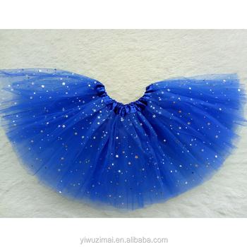 d231f0664c5 Boutique Enfants Bleu Foncé Tulle TUTU Jupe Sequin Paillettes Étoiles Princesse  TUTU Pour Les Petites Filles