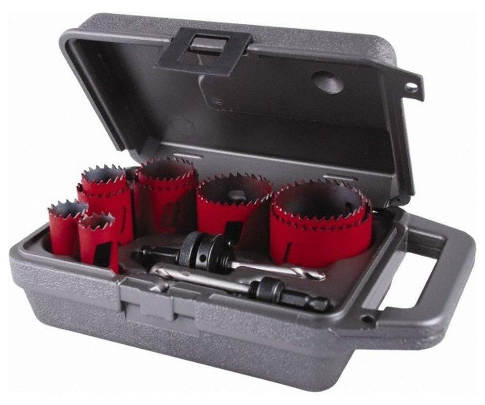 Morse 177825, Hole Saw Kits Minimum Saw Diameter (Inch): 3/4 Minimum Saw Diameter (mm): 19-11 Piece Kit