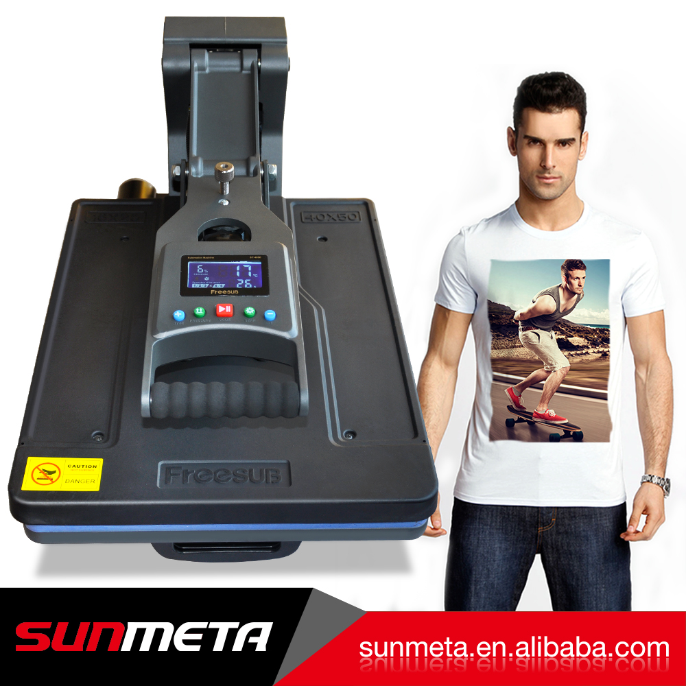 Sunmeta heat press machine sublimation printing heat transfer ST-4050 for Garment Clothing Label