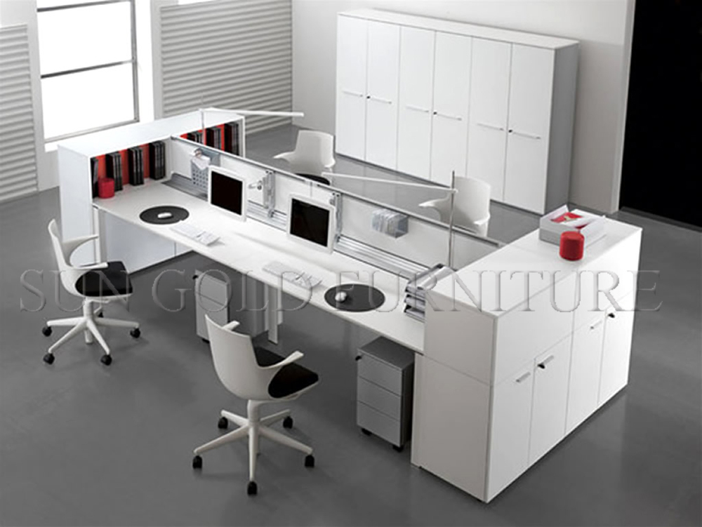 high quality modern design furniture 4 person partition office workstation szws163 nice