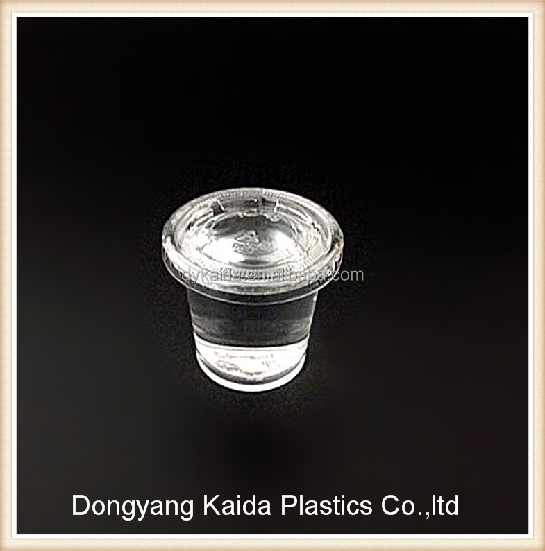 1oz PET plastic whisky tasting cups with lids