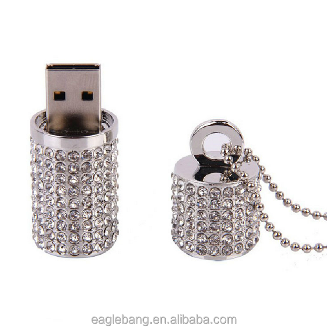 Jewelry necklace Pendrive 4gb 8gb 16gb cute Crystal Diamond Necklace usb