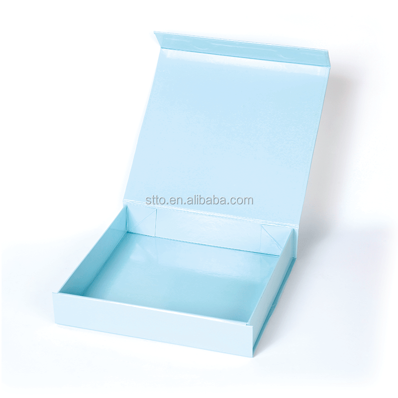 2017 New Luxury Flat Floding Paper Gift Wedding Favor packaging Box For Wedding Dress & Flower