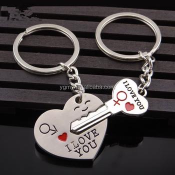 I Love You Heart Keychain Ring Keyring Key Chain Lover Romantic