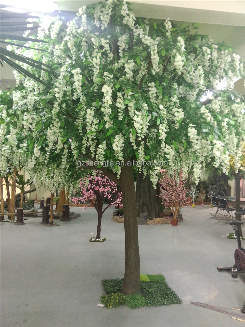 Yw02 artificial wisteria floweruse for wedding fake wisteria yw02 artificial wisteria flower use for wedding fake wisteria flower tree decor wedding flower dhlflorist Gallery