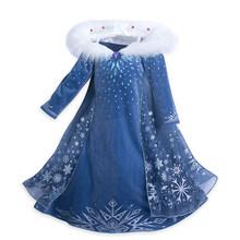 Платья для девочек, платья принцесс Анны и Эльзы из мультфильма «Холодное сердце», вечерние платья для девочек, 2020(China)