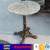Granite table with cast iron table leg