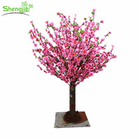 Wholesale price mini peach blossom tree centerpiece tree for wedding