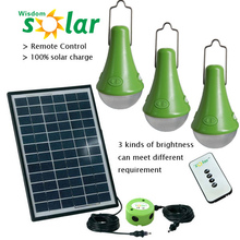 cheap innovative products portable lamps with solar energy /3*3w solar powered portable lamp(JR-SL988)