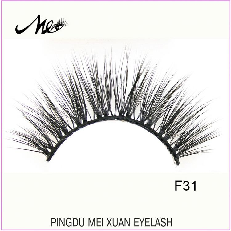 Good quality wholesale invisible band korea 3d synthetic lashes