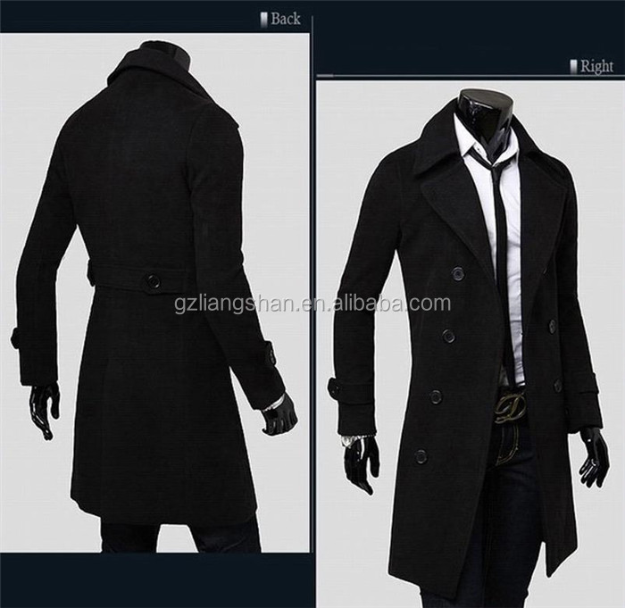 2015 Newest Design Fashion Long Winter Coat Men Trench Coat - Buy ...