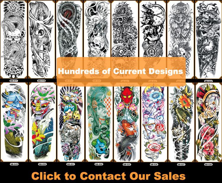 Tribal Tiger Disegno Del Cranio Mezzo Pieno della Fascia di Braccio Del Manicotto Del Tatuaggio Temporaneo
