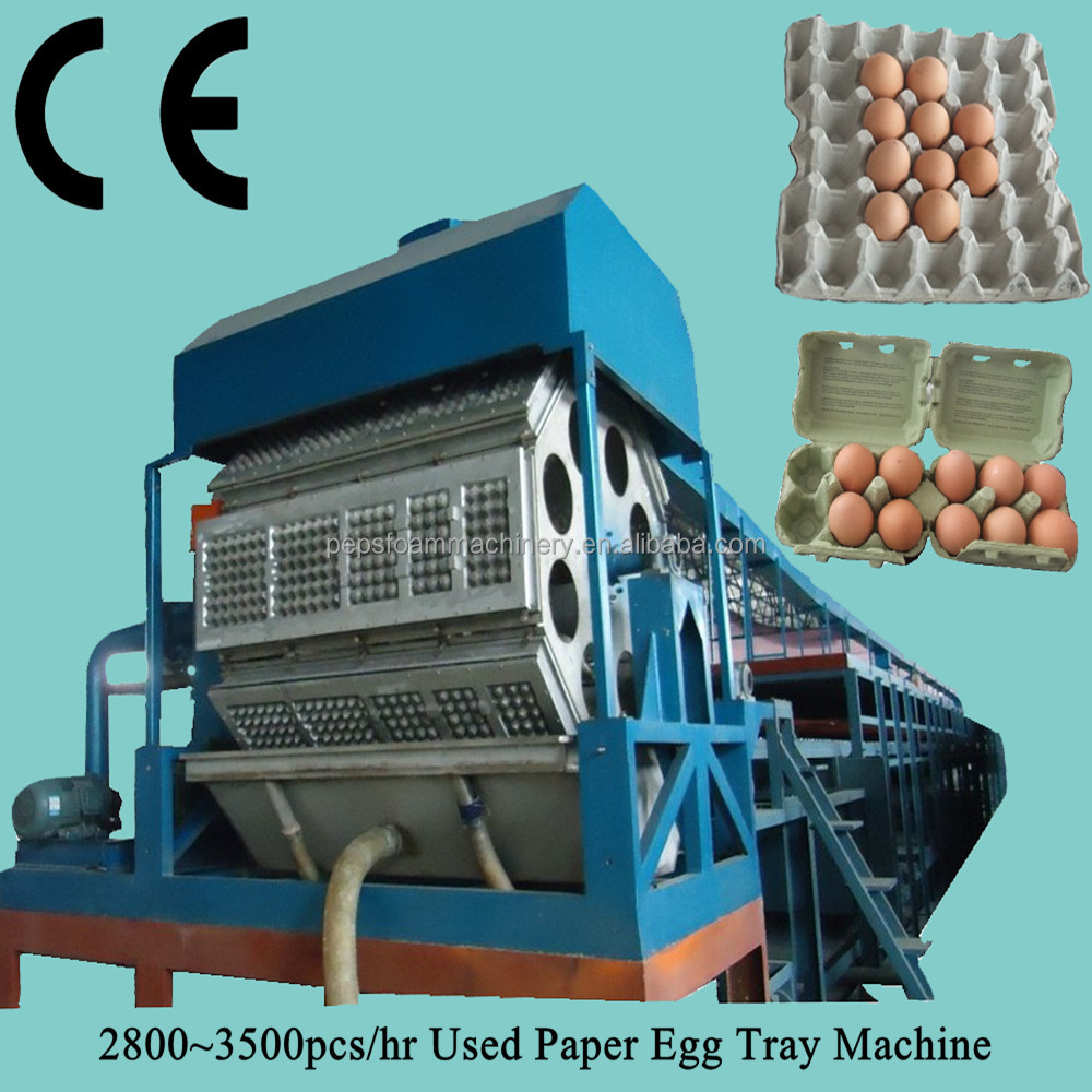 Auto Reciprocating Egg Tray Making Machine / Egg Box / Paper Pallet Production Line 2000-2500pcs/h