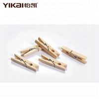 YIKAI wholesale mini clips wooden clothes pegs