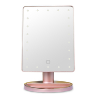 Zogift 2019 Private Label Vanity Led Lighted Travel Makeup Mirror Desktop Folding Make Up Mirror With Lights