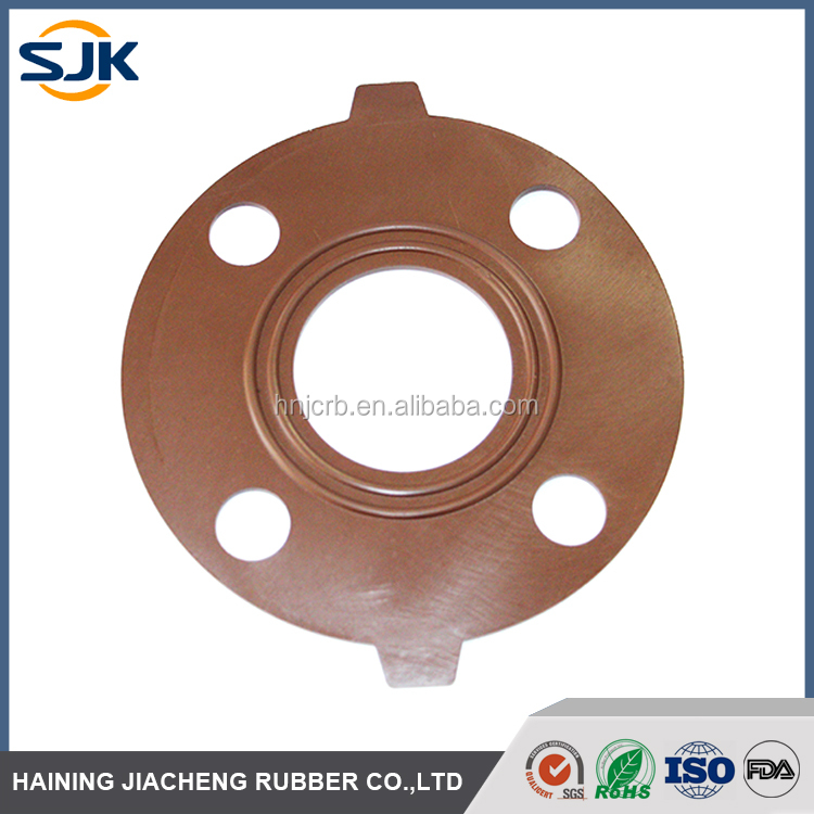 Standard compression molded FKM / Viton ANSI Pipe Fitting Flange Gasket