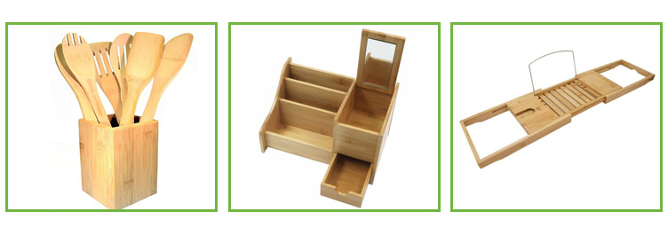 Bamboo Tableware Storage Box Kitchen Cutlery Tray Drawer Organizer 5