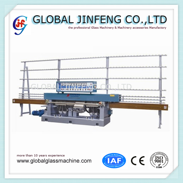 JFE-8242 8 motor Glass straight line edging polishing machine horizontal processing glass machinery with CE