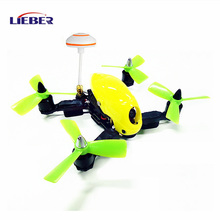 AX LIEBER Toy Drone Hawk 150mm FPV Racing Drone Yellow ARF with Mushroom Transmitter Antenna