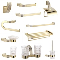 Czech Crystal Bathroom Hardware Set Robe Hook Towel Rail Rack Bar Shelf Toothbrush Holder towel holder Bathroom Accessories