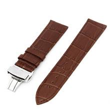 Ремешок для часов из натуральной кожи 17 мм 18 мм 19 мм 20 мм 22 мм для мужчин и женщин, ремешок для наручных петель, браслет для ремня, черный, кори...(Китай)