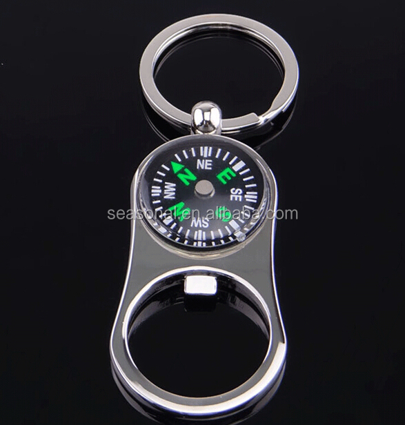 custom oem stock metal zinc alloy compass bottle opener key chain for promotional buy compass. Black Bedroom Furniture Sets. Home Design Ideas