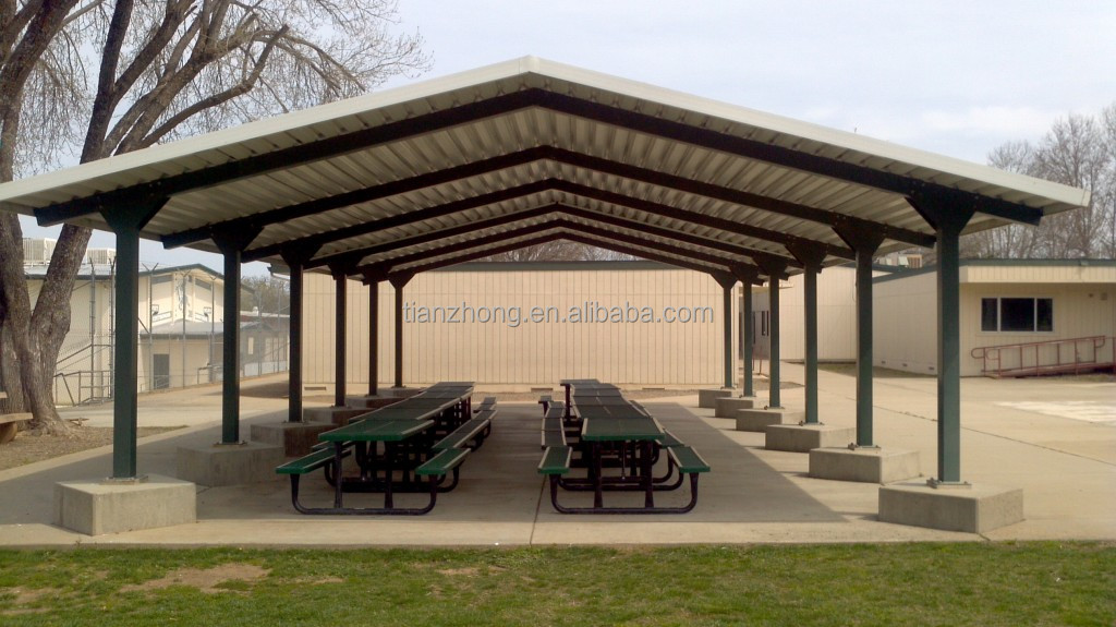 Prefab steel shade structure buy steel shade structure for Steel shade structure design