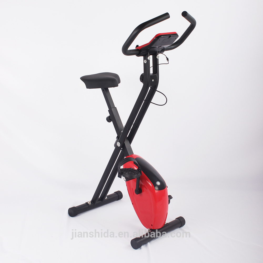 Alibaba TOP Supplier Indoor Foldable Folding Adjustable Magnetic Upright Exercise Bike