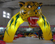 Lighting/yellow/event inflatable animal entrance arch/tiger model/cartoon/replica/figure/character W1049