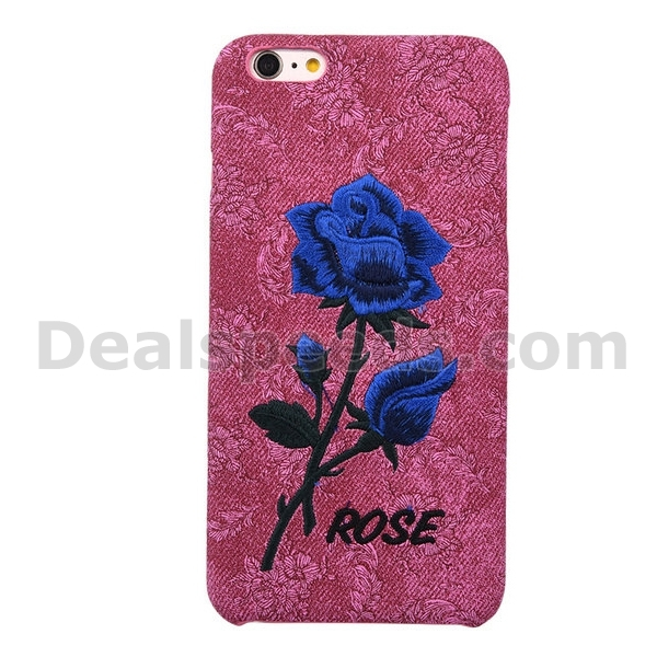 Cloth Coated Embroidering Hard Back Cases for iPhone 6S/6